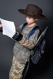 Boy as his favorite movie character Royalty Free Stock Photo