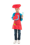 Boy as little cook Royalty Free Stock Photo