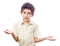 Boy asking why Stock Images