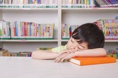 Boy Asleep on Book Royalty Free Stock Photography