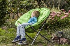 Boy asleep Stock Photography