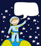 Boy astronaut Stock Photography