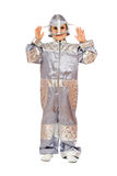 Boy in astronaut costume Royalty Free Stock Photos