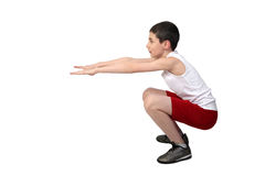 Boy athlete Royalty Free Stock Photography