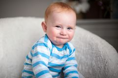 Boy with atopic dermatitis Royalty Free Stock Photos