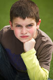Boy with attitude royalty free stock photo