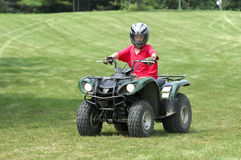 Boy on ATV Royalty Free Stock Photo