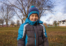 Boy in autumn Park Royalty Free Stock Photography