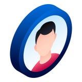 Boy avatar icon, isometric style vector illustration