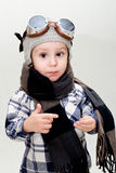 Boy aviator Stock Images