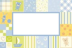Boy baby frame stock illustration