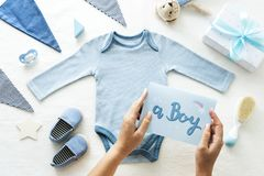 A Boy Baby Shower Accessories royalty free stock image