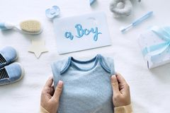A Boy Baby Shower gift collection stock photos
