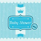 Boy baby shower invitation card Royalty Free Stock Photos