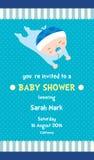 Boy Baby Shower Invitation Card stock illustration