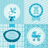 Boy baby shower invitation cards Royalty Free Stock Photography