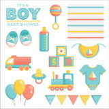 It is a boy baby shower set Stock Images