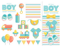 It is a boy baby shower set Royalty Free Stock Photos