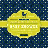 Boy baby shower. Vector card. Royalty Free Stock Image