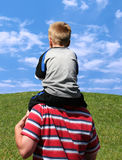 Boy on Back Royalty Free Stock Photo