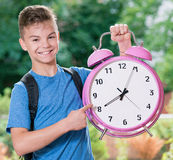 Boy back to school Royalty Free Stock Image