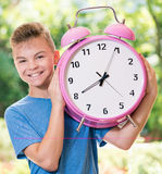 Boy back to school Stock Images