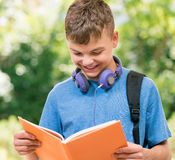 Boy back to school Stock Image