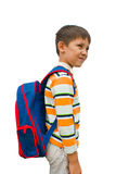 Boy with a backpack Stock Images