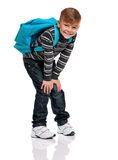 Boy with backpack Stock Image