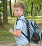 Boy with a backpack Royalty Free Stock Image