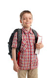 Boy with backpack and book Royalty Free Stock Image