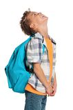 Boy with backpack Royalty Free Stock Photography