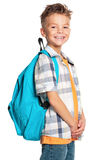 Boy with backpack Royalty Free Stock Photos