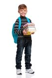 Boy with backpack Stock Photography