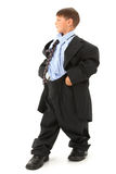 Boy in Baggy Suit Royalty Free Stock Photos