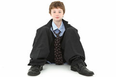 Boy in Baggy Suit Royalty Free Stock Photography