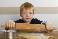 Boy baking Stock Photography