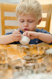 Boy Baking with Mom Stock Photography
