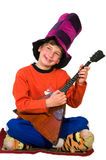 Boy with balalaika Stock Photography