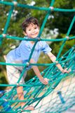 boy balancing on rope activity Stock Photography
