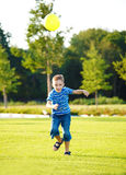 Boy with ball Stock Photo