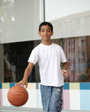 Boy with the ball. Portrait of boy with the ball Royalty Free Stock Image