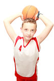 Boy with ball. Boy with a ball on isolated Stock Image