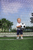 Boy with ball Royalty Free Stock Images