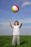 Boy with ball Royalty Free Stock Photo