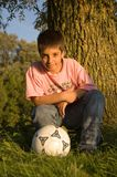 Boy with ball Royalty Free Stock Photos