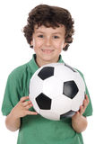 Boy with ball Royalty Free Stock Image