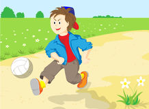 A boy with ball. Royalty Free Stock Images