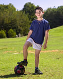 Boy and ball Royalty Free Stock Images