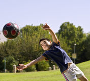 Boy and ball royalty free stock photos